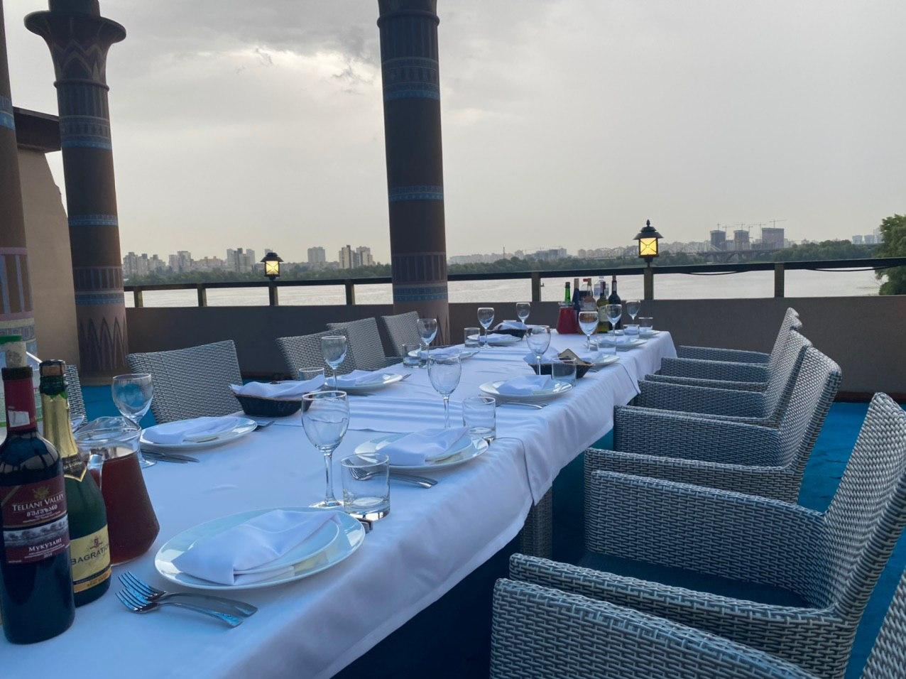 Summer terrace banquet